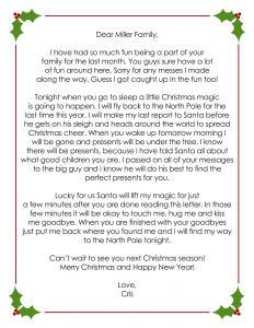 Goodbye Letter From Elf On the Shelf Template - Creating My Life Our Elf On the Shelf Tinsel