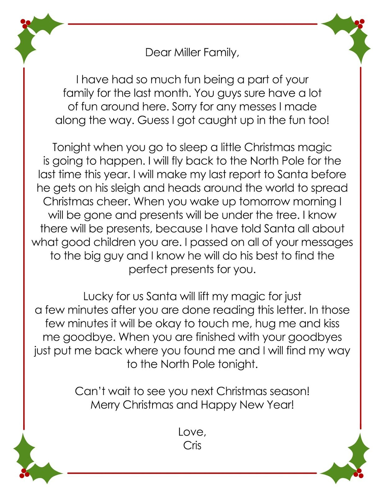 goodbye letter from elf on the shelf template example-OUR ELF ON THE SHELF 18-l
