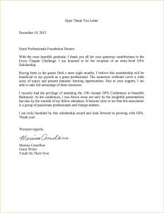 Grant Award Letter Template - Grant Thank You Letter Template Download