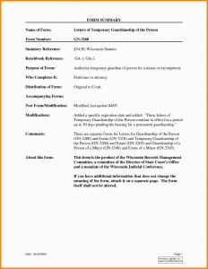 Guardian Letter Template - Temporary Guardianship Letter Template for Travel