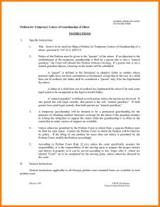 Guardian Letter Template - Temporary Guardianship Letter Template 2018 Guardian form for Child
