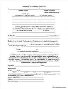 Guardianship Letter In Case Of Death Template - Guardianship Letter In Case Death Template Download