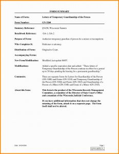 Guardianship Letter Template - Temporary Guardianship Letter Template Downloadable 30 Best Sample