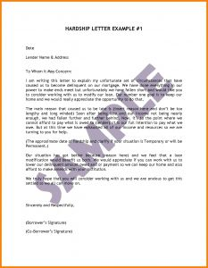 Hardship Letter for Loan Modification Template - Hardship Immigration Letter – Cover Letter Templates