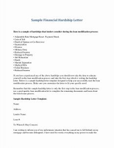 Hardship Letter for Loan Modification Template - 14 Elegant Mortgage Hardship Letter Land Of Template