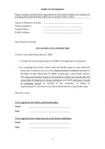 Harvard Acceptance Letter Template - Fellowship Acceptance Letter Guide for Writing Fellowship