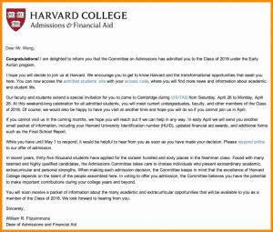Harvard Acceptance Letter Template - Acceptance Letter Template College Refrence College Acceptance