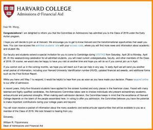 Harvard Acceptance Letter Template - Acceptance Letter Template College Refrence College Acceptance