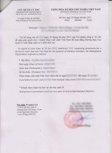 Hoa Approval Letter Template - Download Visa Application form Vietnam Visa Approval Lettervisa