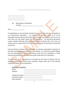 Hoa Dues Letter Template - Template Letter Plaint to orange Best Homeowners association