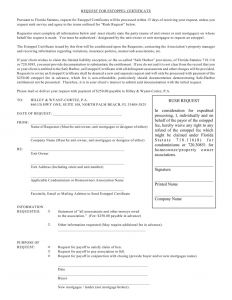 Hoa Estoppel Letter Template - Homeowners association Letter Templates