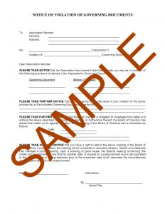 Hoa Violation Letter Template Sample - Homeowners association Letter Templates