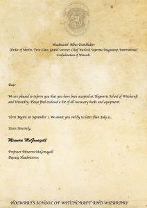 Hogwarts Acceptance Letter Envelope Template Printable - Printable Hogwarts Acceptance Letter Template Editable Letter From