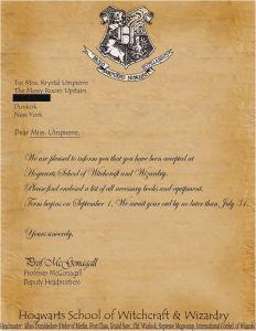 Hogwarts Acceptance Letter Template - Hogwarts Brief Vorlage