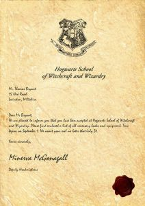 Hogwarts Acceptance Letter Template - Harry Potter Invitation Letter Template Examples