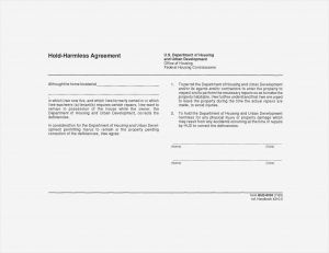 Hold Harmless Letter Template - Hold Harmless Agreement Template Free Lovely Hold Harmless Agreement