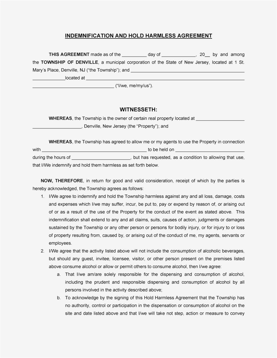 hold harmless letter template Collection-hold harmless letter template new cohabitation agreement 7r 4-k