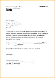 Holiday Letter Template - Sample Letter Sick Leave Zaxa