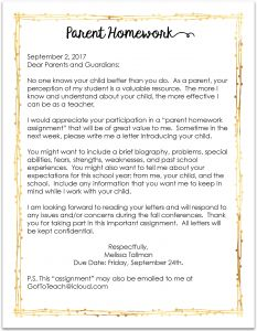 Homework Letter to Parents Template - Parent Letters On Pinterest