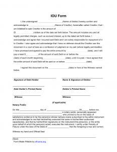 I Owe You Letter Template - I Owe You Letter Template Examples