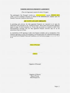 Indemnification Letter Template - 29 Best Indemnity Letter Example