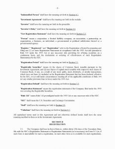 Indemnification Letter Template - Indemnification Agreement Sample Indemnity Letter 10 Letter