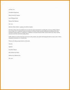 Insurance Cancellation Letter Template - 34 Car Insurance Cancellation Letter