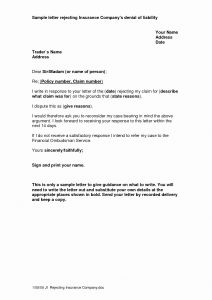 Insurance Denial Letter Template - How to Write A Insurance Claim Letter New Authorization Letter