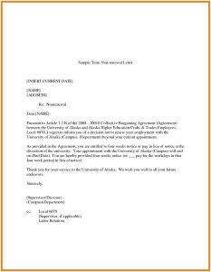Insurance Renewal Letter Template - Nonrenewal Lease Letter Template Samples
