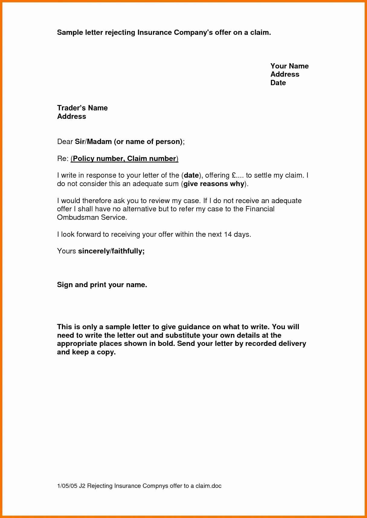 17 Insurance Renewal Letter Template Ideas - Letter Templates