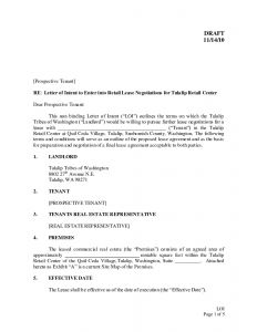 Intent to Lease Letter Template - 11 Letter Of Intent Vorlage