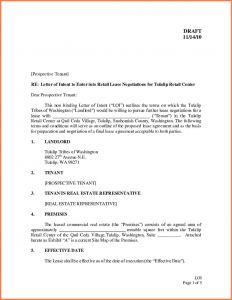 Intent to Lease Letter Template - Letter Intent Lease Template Samples