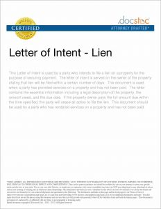Intent to Lien Letter Template - Intent to Lien Letter Template Notice 28 Ksdharshan