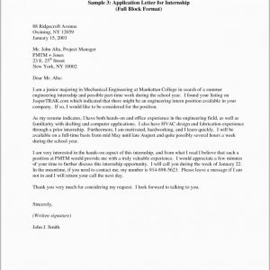 Intern Cover Letter Template - Unique Application Letter Example Engineering