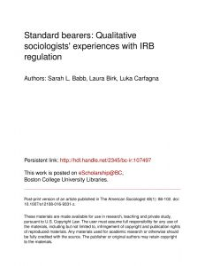 Irb Approval Letter Template - Pdf Standard Bearers Qualitative sociologists Experiences with