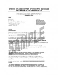 Irrevocable Letter Of Credit Template - Irrevocable Letter Of Credit form