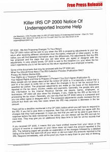Irs Response Letter Template - Cp2000 Response Letter Sample