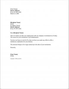 Job Abandonment Letter Template - Sample Layoff Letter Due to Restructuring