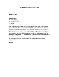 Job Abandonment Letter Template - Client Termination Letter Template Collection