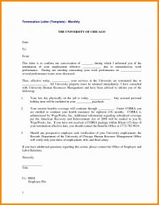 Job Abandonment Letter Template - Separation Letter to Employee Template Examples