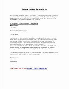 Job Application Cover Letter Template - Cover Letter Resume Template Inspirational Job Application Letter