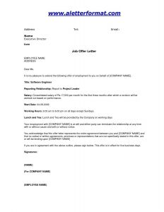 Job Offer Letter Template Doc - Fer Letter format Sample India New Job Fer Letter Template Doc