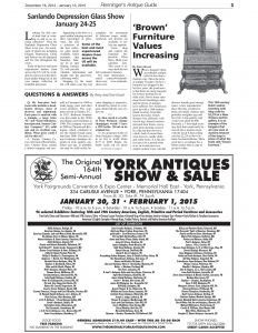 Kovel Letter Template - Renninger S Antique Guide Newspaper Dec Jan