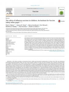 Kovel Letter Template - the Safety Of Influenza Vaccines In Children An Institute for