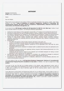 Latex Cover Letter Template - Sample Cover Letter for Hospitality Industry