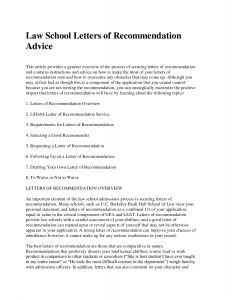 Law School Letter Of Recommendation Template - Law School Letter Re Mendation Template Best Legal Reference