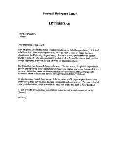 Law School Letter Of Recommendation Template - Professional Re Mendation Letter This is An Example Of A