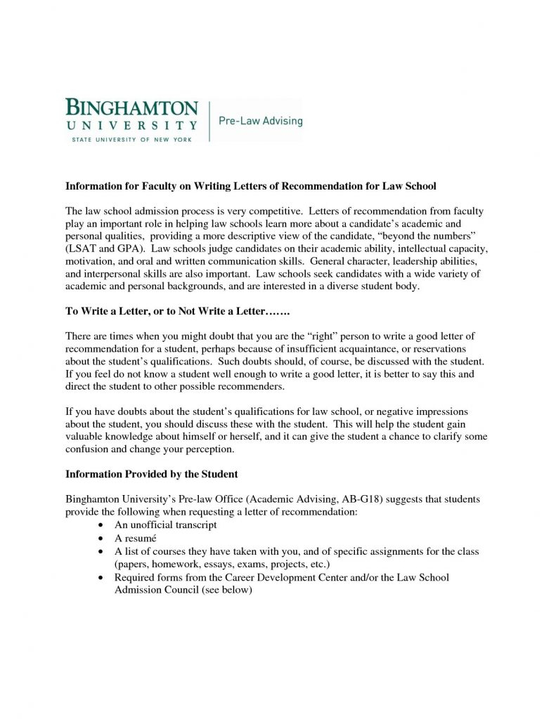 8 law school letter of recommendation template samples