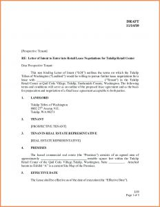 Lease Letter Of Intent Template - Free Letter Intent to Lease Mercial Space Template Samples