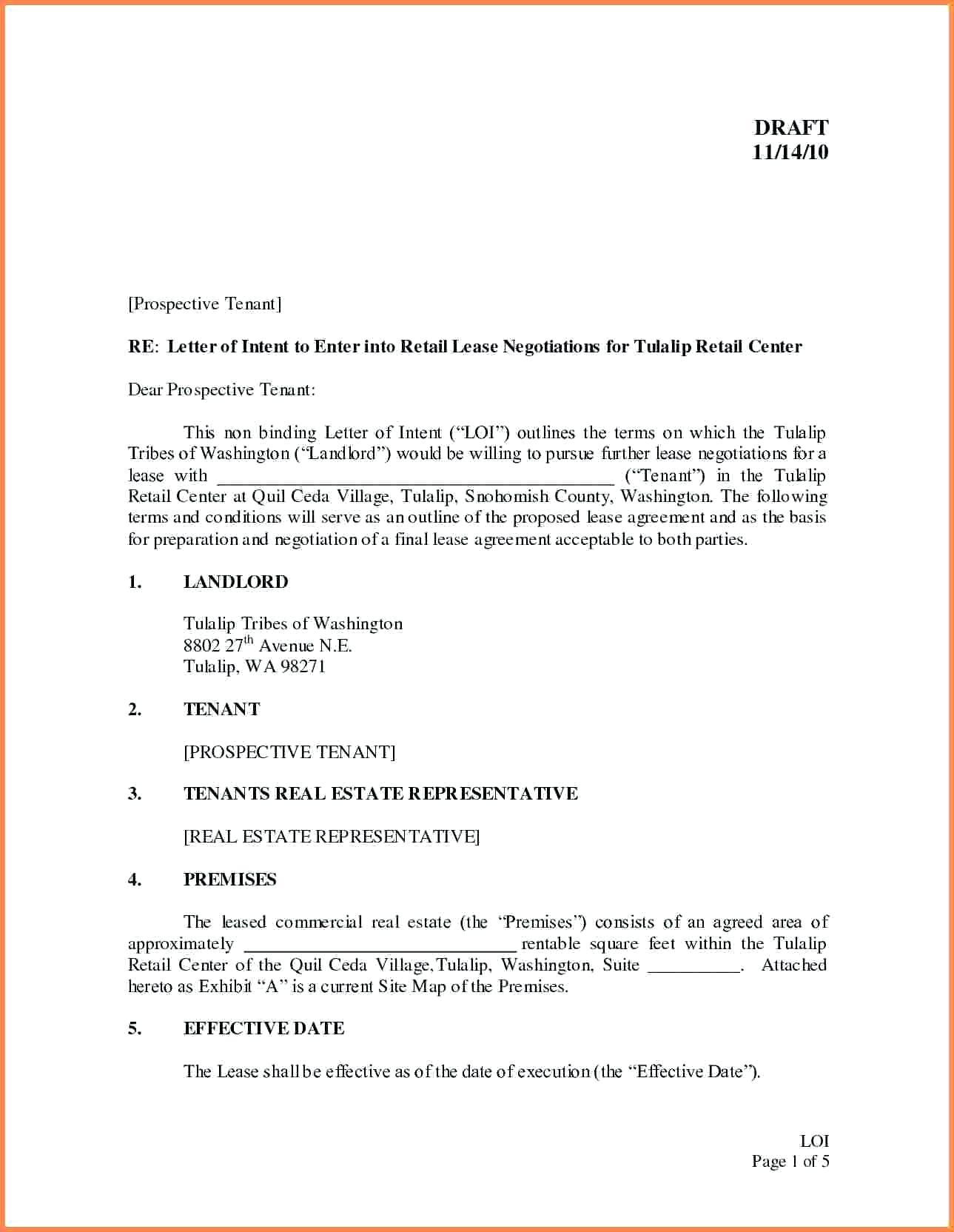 lease letter of intent template example-Free Letter Intent to Lease mercial Space Template Templatemercial Real Estate Letter Intent to 12-t